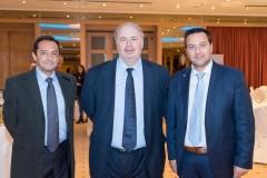 Ο κ. Χάρης Δαμάσκος, Διευθυντής Αποζημιώσεων με τους κ.κ. Γιώργο Κοκκίνη και Βαγγέλη Γρίβα από το Υποκατάστημα Ιωαννίνων